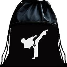 Kunzite Black Luminous Tae Kwon Do Bag Martial Arts Mesh Bag Portable Fitness Double Shoulder Backpack Large Capacity