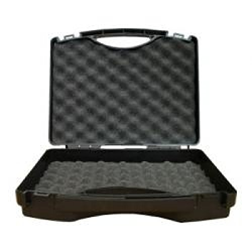 W-tec Systems plastic case with convoluted foam insert, black/silver grey
