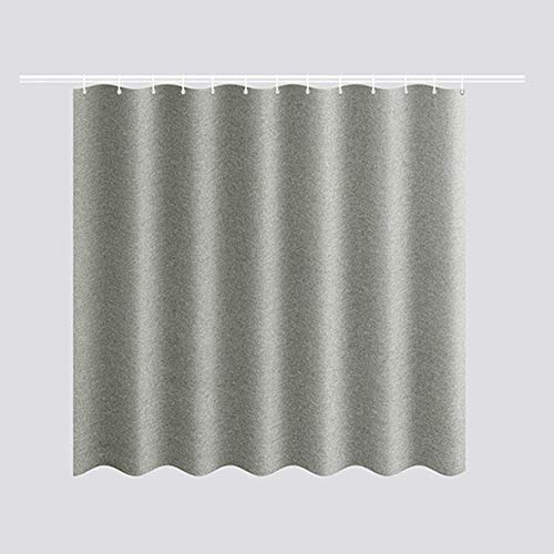 KXBMDO Verdickte Nachahmung Leinen Duschvorhänge Solide Hotel Hohe Qualität Wasserdicht Bad Vorhang für Hotel & amp;Zuhause, grau, 100 * 180cm