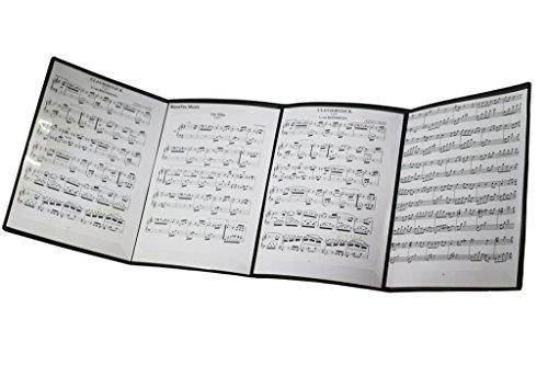 MOREYES Musikordner für Notenblätter, faltbar Schwarz