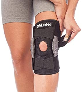 ced453519e Mueller Sports Medicine Adjustable Hinged Knee Brace, Black/Gray, One Size  Fits Most