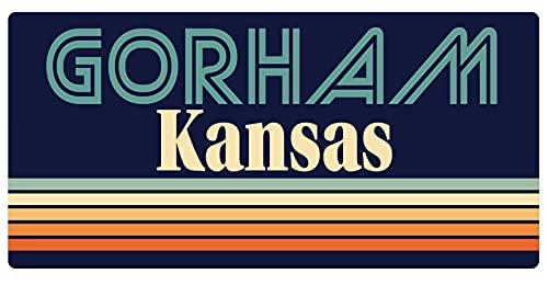 Gorham Kansas 5 x 2.5-Inch Vinyl Decal Sticker Retro Design -  R and R Imports