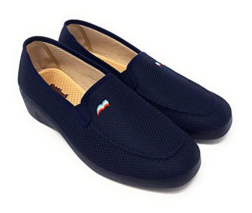 ZAPATILLAS DE CASA DEVALVERDE 763 MARINO.Zapatillas para mujer muy comodas,relajantes,termoestables,antibacterias,antideslizantes.. (MARINO, 39 EU, numeric_39)