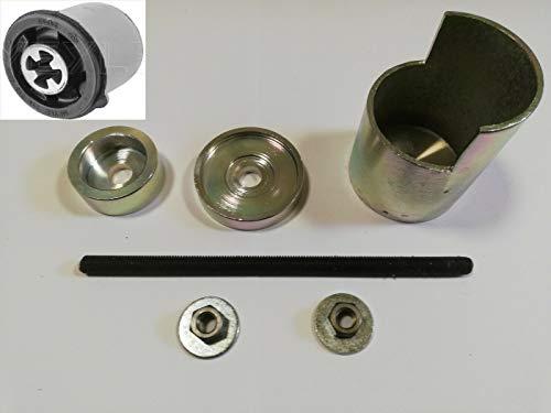 DR TOOLS Herramienta de prensado de eje trasero, brazo de suspensión, eje trasero, herramienta de montaje