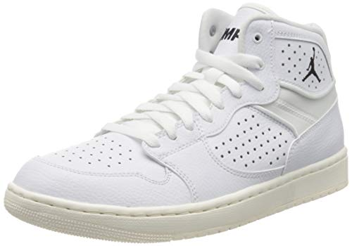 Nike Herren Jordan Access Hohe Sneaker, Mehrfarbig (White/White-Pale Ivory-Metallic Gold 100), 42.5 EU