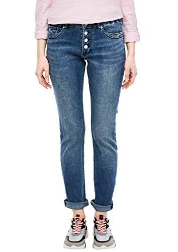 Q/S designed by Damen 45.899.71.3225 Slim Jeans, Blau (Blue Denim Stretch 57z7), (Herstellergröße: 42/32)