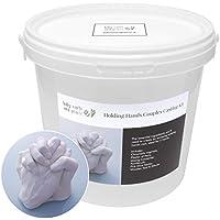 Baby Casts & Prints Tomados de la mano Familia tridimensional Kit de fundición - Moldeo de polvo, yeso, cubeta de mezcla, herramientas: todo lo que necesita para moldear