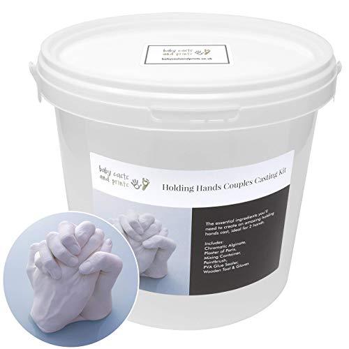 Baby Casts & Prints Kit Tenant la main Famille de coulée 3D - poudre de moulage, plâtre, seau de mélange, des outils - tout ce que vous devez jeter