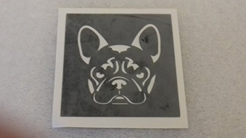 12 x French Bulldog face Dog Stencils for Etching on Glass Gift Present Glassware Hobby Craft Frenchie