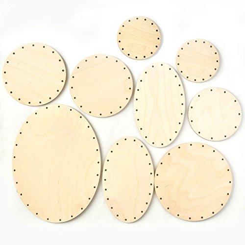 Zita's Creative Korbboden Set bogig, groß - für Peddigrohr 3mm - Flechten, Korbflechten, Schilf Set, Peddigrohr, Flechtmaterial, Flechtset, Rattan