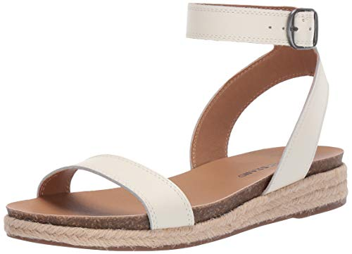 Price comparison product image Lucky Brand Women's GARSTON Espadrille Wedge Sandal,  Milk,  8.5 M US