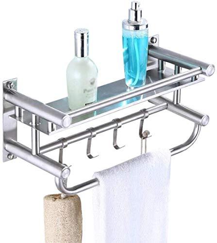 TXC Handdoekhouder van roestvrij staal in Europese stijl voor badkamer, wandmontage, dubbele kruis, voor badkamer