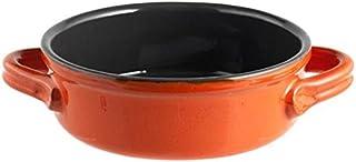 H&H Sartén, Cerámica Antiadherente, 2 Asas, 24 cm, Naranja