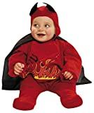 My Other Me Me-203263 Disfraz de diablillo con capa para niño, color rojo, 1-2 años (Viving Costumes 203263)
