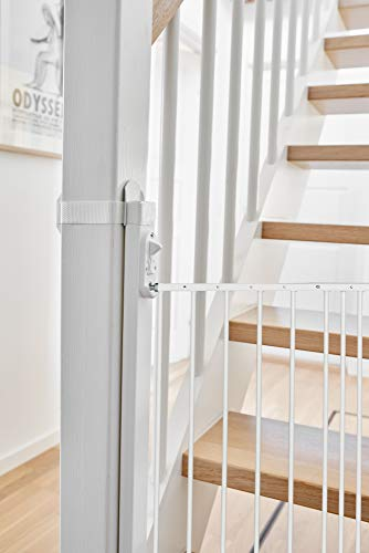 BabyDan NO Drilling Solid Wood Universal Staircase Adaptor Installation Kit Allows Safety Gates to be Fitted onto Stairs Newel Posts Balusters, White
