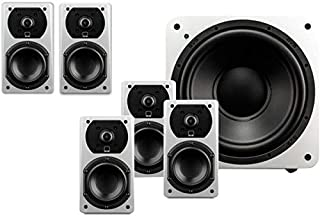SVS Prime Satellite 5.1 System Speakers with Subwoofer - Piano Gloss White - SB-1000