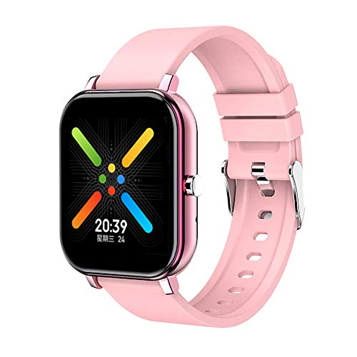 Smartwatch Reloj Inteligente para Mujer y Hombre Impermeable con pulsómetro, medidor de Ritmo cardíaco, Deporte Actividad conexión Bluetooth Android iOS notificaciones y Llamadas (Blanco) (Rosa Oro)