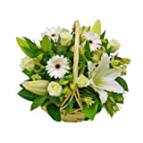 Florclick - Cesta Pureza- Ramo de flores naturales en 24 horas y envío GRATIS