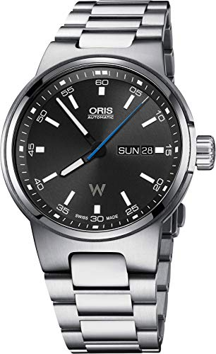Oris Williams F1 Team Day Date automatico quadrante nero in acciaio inox...