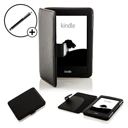 Forefront Cases® Kindle 2014 (7ª Generación, Modelo de 2014) Smart Case Cover Funda Carcasa Caso – Protección Completa del Dispositivo y Extra Acolchado con Función Auto Sueño / Estela + Lápiz Óptico (NEGRO)