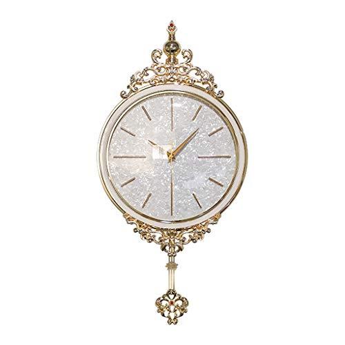 TB Reloj de pared de estilo europeo moderno minimalista reloj creativo de moda atmosférica arte decoración de la pared de lujo silencioso reloj de metal reloj