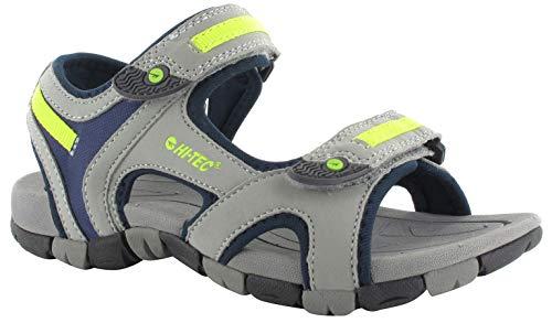 HI-TEC GT Strap Chaussures Enfant, Cool Grey/Majolica Blue/Limoncello Pointures EU 34 2017 Sandales