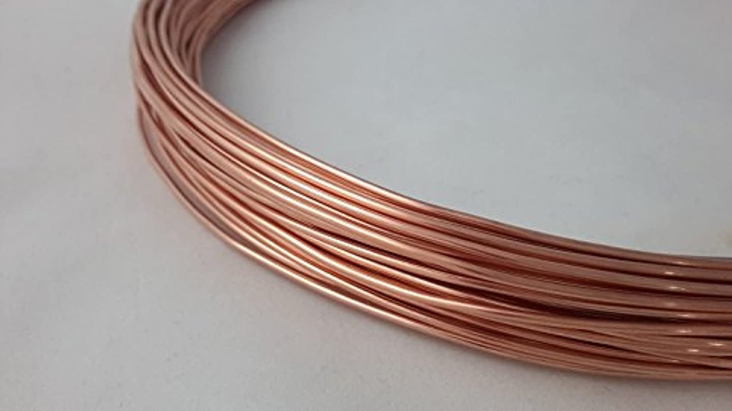 21 Gauge, 99.9% Pure Copper Wire, Round, Dead Soft, CDA #110-25FT from Craft Wire