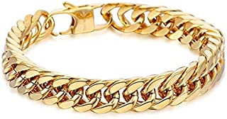 10MM Gold Plated Bracelet Wrist Chain for Men