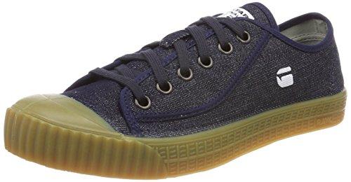 G-STAR RAW Rovulc Denim Low Sneakers, Zapatillas Hombre, Azul Blue Dk Navy 881 881, 45 EU