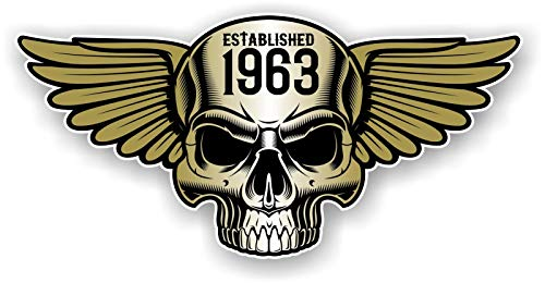 Vintage Biker Totenkopf mit Flügeln Etablierte 1963 Cafe Racer Motorrad Helm Biker...