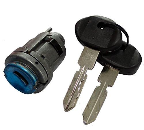 Aerzetix: Schließzylinder mit Zündschloss Lenkradschloss 2 Schlüssel C40213 kompatibel mit 1264600304 1264600604 2014600104
