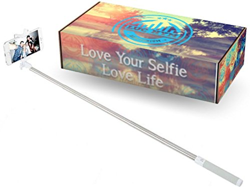 Selfie Sticks, Self Shooting Monopods The Best Selfie From Luc Hym Auditorium Offer Extendable Selfie Stick, Built In Bluetooth Remote, Adjustable Phone Grip, The Most Secure Grip On The Market, For iPhone 5S 5C 6 6 Plus, Samsung Galaxy S4 S5 S3 Start Loving Your Selfie Today! (Gray)