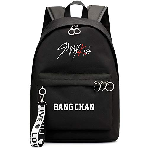 Kpop Stray Kids Rucksack Student Daypack Schultasche Geschenkwaren Laptoptasche College School Bookbag Reise Schule Canvas Bags Bang Chan Changbin Hyunjin Han Felix Seungmin