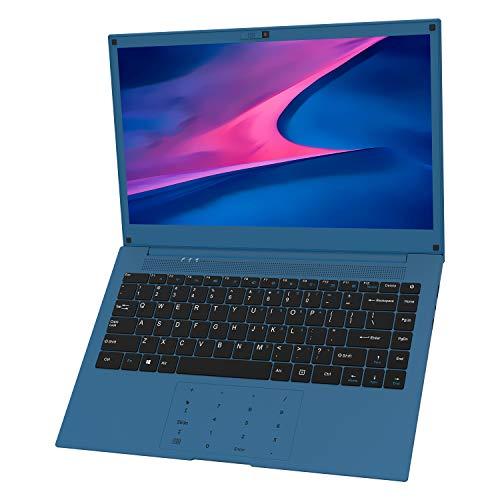 Laptop 14 inch, VUCATIMES 14'' FHD Laptop, Intel Celeron Quad-Core, 6GB RAM 128GB SSD, Dual Band Wi-Fi Laptop Computer, Removable Webcam, Numeric Keypad, Blue