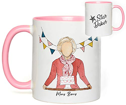 Great British Baking Show Mug (Mary Berry) Star Baker Quote Fan Gift