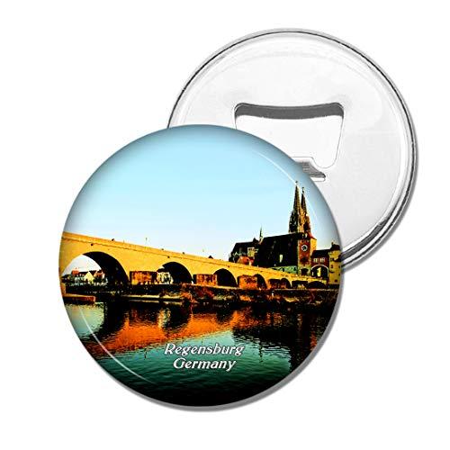 Weekino Deutschland Alte Steinbrücke Regensburg Bier Flaschenöffner Kühlschrank Magnet Metall Souvenir Reise Gift