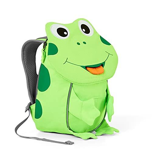 Affenzahn Kleiner Freund - Kindergartenrucksack für 1-3 Jährige im Kindergarten und Kinderrucksack für die Kita - Frosch - Grün, einheitsgröße