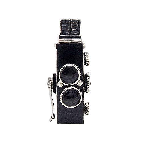 Odoria 1/12 Miniatur Zweiäugige Spiegelreflex-Kamera Puppenhaus Dekoration Zubehör