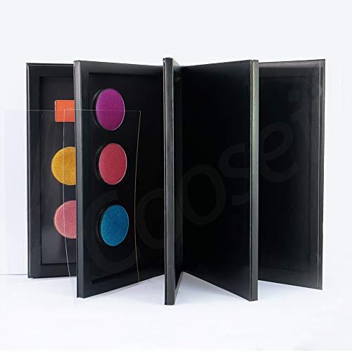 Coosei 4-Layer Book Shaped Mangetic Eyeshadow Palette Large Empty Makeup Storage Box