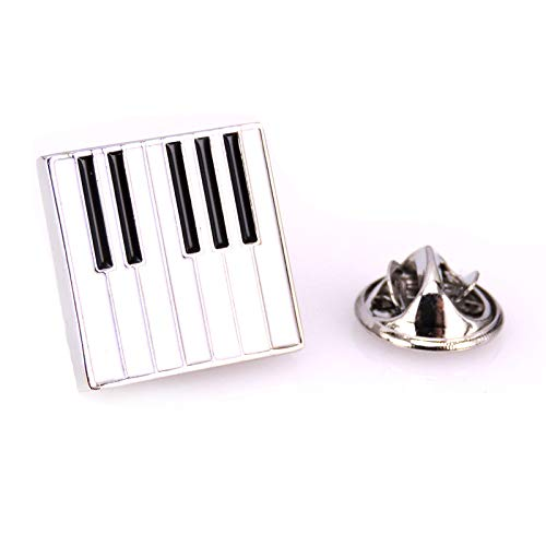 Klavier Brosche Keyboard Brosche Musik Anstecker Piano Anstecknadel (silber)