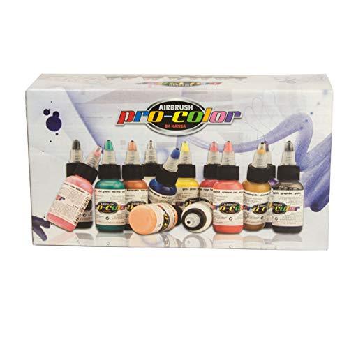 HANSA 67010 pro-color Opaque-Set (11 Farben, 1 Reiniger)