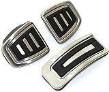 JYSFSSAlmohadillas de Pedal MT de Acero Inoxidable con diseño de Coche 3 unids/Set, para VW Polo Jetta MK4 Bora Golf MK4, para Seat Ibiza 6K 6L 6J-Style 2MT