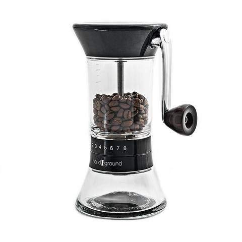 Handground Precision Manual Coffee Grinder: Conical Ceramic Burr Mill - Black