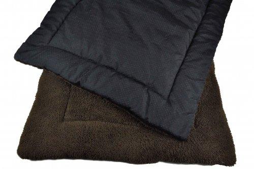 TrendPet SoftPad 4cm Gepolsterte Liegedecke Hundedecke für Hunde, braun 75x55cm