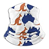 SARA NELL Breathable Map Kangaroo Australia Symbol Neck Gaiter Face Mask Protection For Outdoor Sport