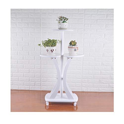 LYM & potenstandaard bloemenstandaard massief hout woonkamer plantenstandaard staande klok multilayer indoor balkon bonsai decoratieve bloempotten