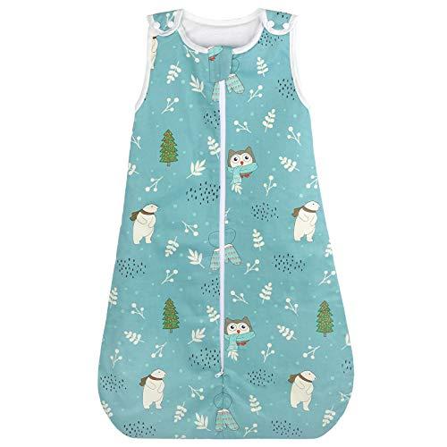 Viedouce Baby Schlafsäcke,Schlafsack Baby Bio-Baumwolle, Waschbar Kleinkindschlafsack, Ganzjahres Babyschlafsack 2.5 TOG,Größe 80cm für Neugeborene 3-18 Monate
