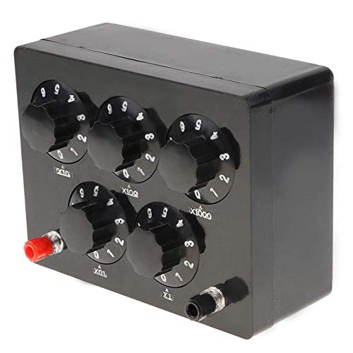 Noblik Schwarz Widerstands Box Eisen Variable Dekade Widerstands Box 0-9999,9 Ohm 165X125X60Mm für Den Physikalischen Unterricht