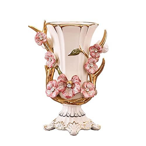 WLN Resina Grandes Jarrones Flores para Salón Comedor Mesa Centro Pieza Decoración Bouquets Decoración De La Decoración De La Decoración Pintado A Mano Altura De Jarrón Decorativo