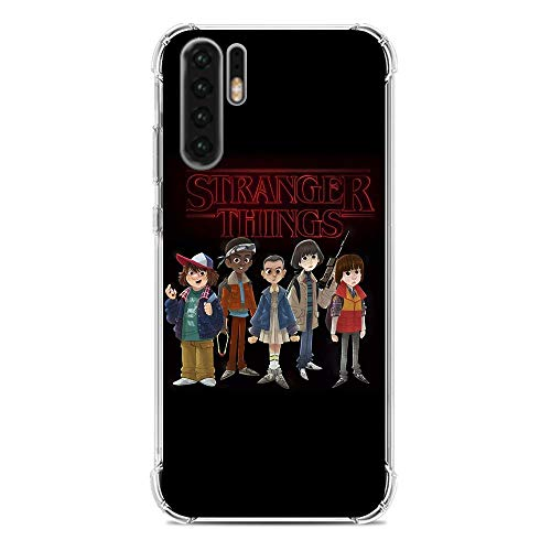 A-Legend Ultra Thin Coque Lightweight Anti-Skid Clear Soft Flexible Gel TPU Case Cover For Huawei P30 Pro-Stranger-Things Eleven Joyce 4